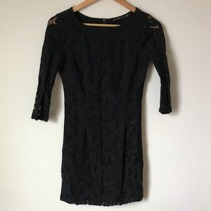 Zara TRF collection black lace dress